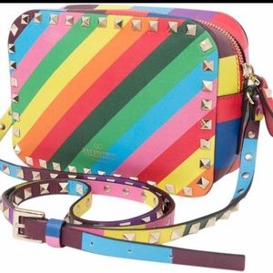 RAINBOW VALENTINO ROCKSTUD CAMERA BAG!